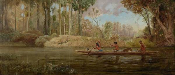 Wall Art - Painting - Waikato River By Kennett Watkins, 1881. by Kennett Watkins
