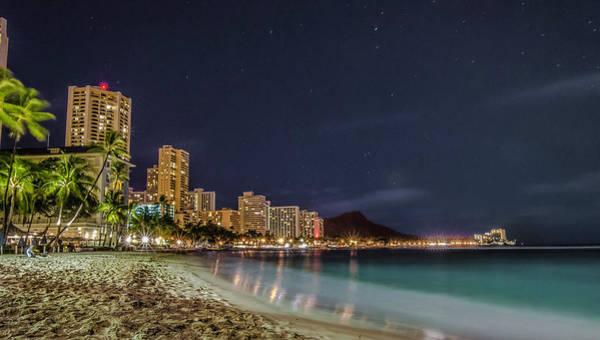Ohau Wall Art - Photograph - Waikiki Nights by Tricio Photography