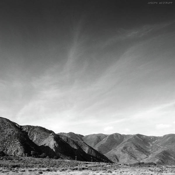 Wall Art - Photograph - Wainui Hills Squared In Black And White by Joseph Westrupp