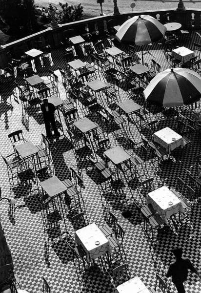 Waiter Photograph - Waiters On The Sunny Terrace Of The Hote by Time Life Pictures
