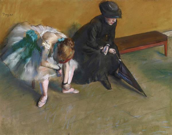 Wall Art - Painting - Waiting, 1882 by Edgar Degas