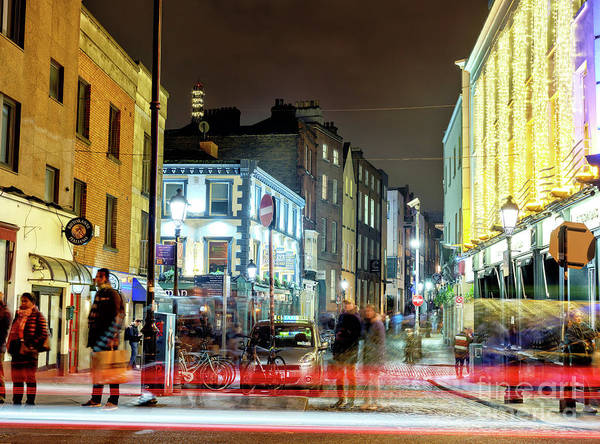 Wall Art - Photograph - Waiting At Night In Dublin by John Rizzuto