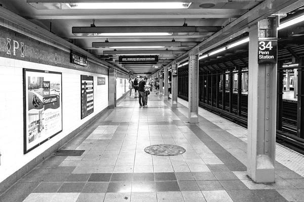 Photograph - Waiting At Penn Station by Sharon Popek