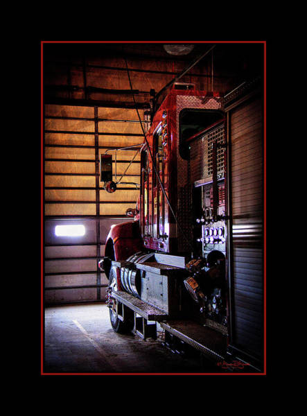 Wall Art - Photograph - Waiting At The Fire Hall by Brenda D Busskohl