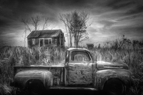 Wall Art - Photograph - Waiting For Grandpa Black And White by Debra and Dave Vanderlaan