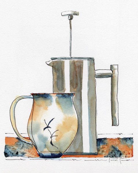 Painting - Waiting For His Morning Coffee by Pat Katz