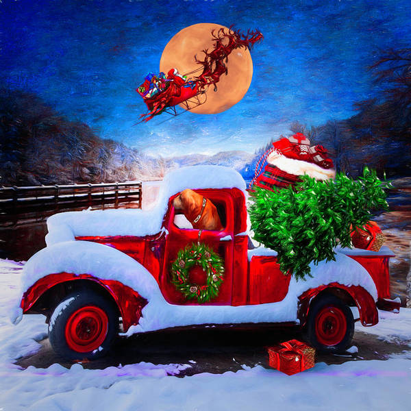 Photograph - Waiting For Santa In Square Painting by Debra and Dave Vanderlaan