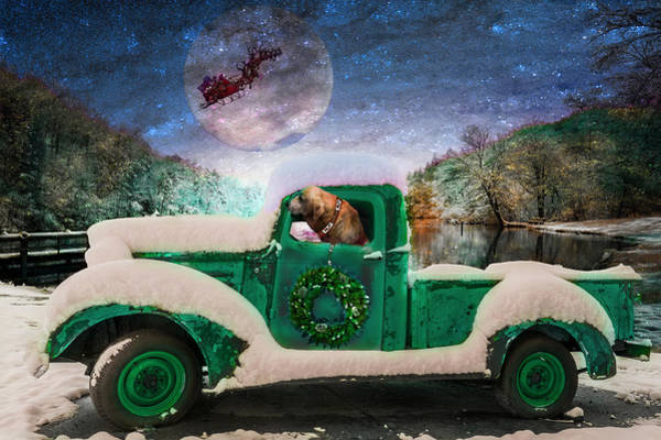 Photograph - Waiting For Santa In Turquoise Tones by Debra and Dave Vanderlaan