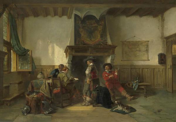 Painting - Waiting Room With Soldiers by Herman Frederik Carel ten Kate