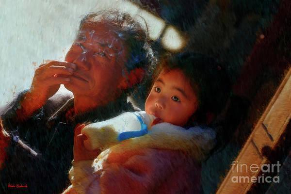 Photograph - Waiting With Grandpa by Blake Richards