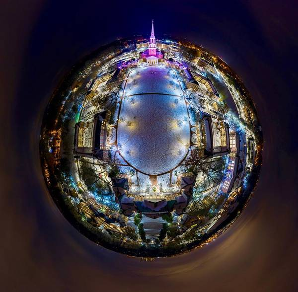 Wake Digital Art - Wake 360 At Night by Clark Lupton