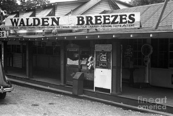 Photograph - Walden Pond Shop, 1937 by Edwin Locke