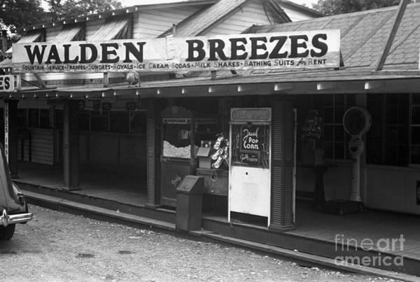 Wall Art - Photograph - Walden Pond Shop, 1937 by Edwin Locke