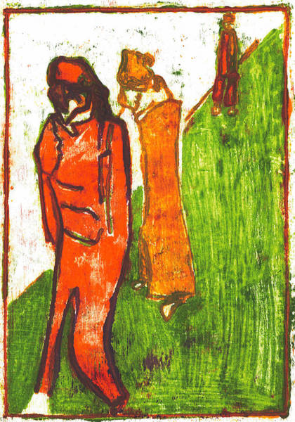 Painting - Walk In The Park by Artist Dot