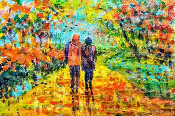 Painting - Walk In The Rain by Asha Sudhaker Shenoy