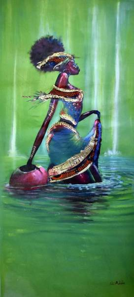 Painting - Walk On Water by James Nii Addo