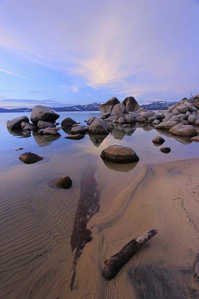 Photograph - Walk The Twilight Winter Shores by Sean Sarsfield