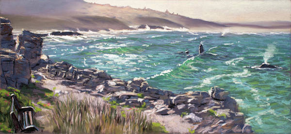 Painting - Walker Bay Whales by Christopher Reid