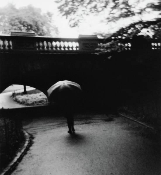 Photograph - Walking Alone With Umbrella by Adam Garelick