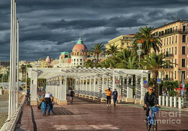 Photograph - Walking Along The Promenade Des Anglais Nice France by Wayne Moran
