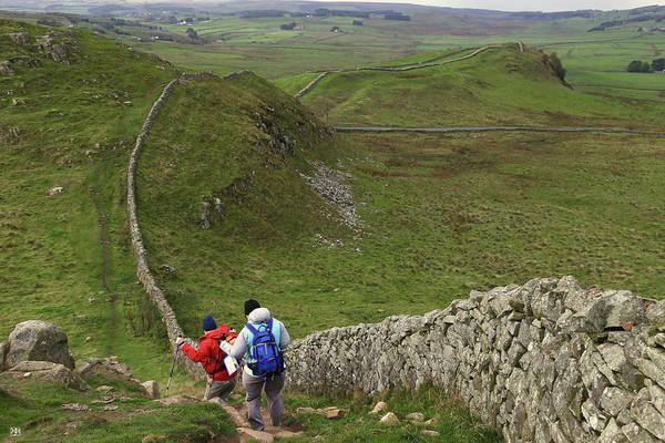 Photograph - Walking Hadrian's Wall Path by John Meader