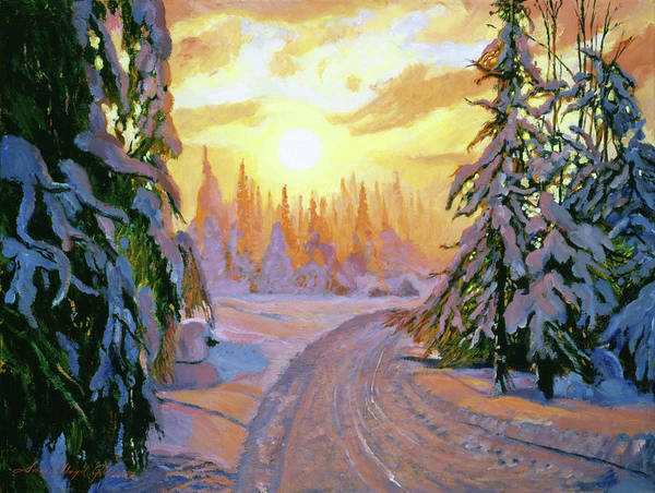 Painting - Walking Home For Christmas by David Lloyd Glover