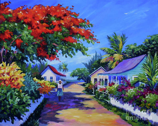 Bougainvillea Painting - Walking Home by John Clark