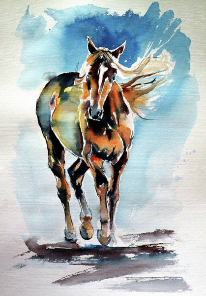 Wall Art - Painting - Walking Horse by Kovacs Anna Brigitta