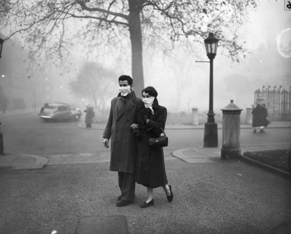 Reportage Photograph - Walking In Fog by Monty Fresco