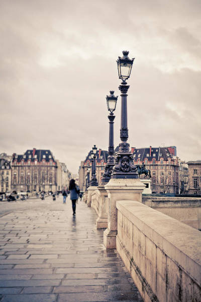 Old People Photograph - Walking In Pont Neuf, Paris, France by Zodebala