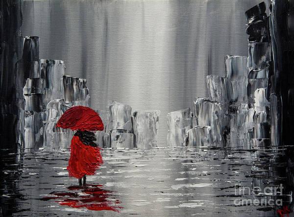 Wall Art - Painting - Walking In The Rain by Deborah Klubertanz