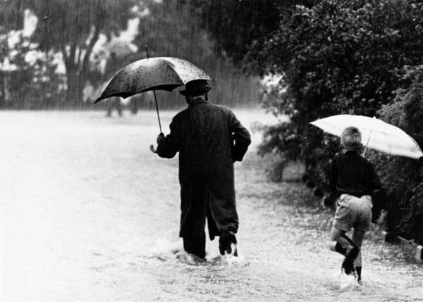 Rain Photograph - Walking In The Rain by Keystone
