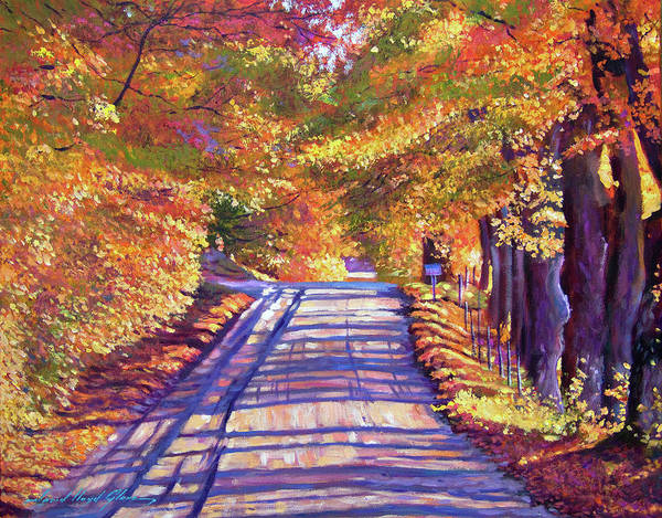 Painting - Walking In Vermont by David Lloyd Glover