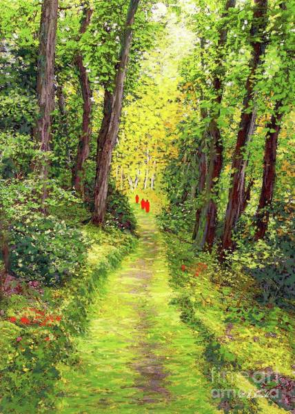 Thai Wall Art - Painting - Walking Meditation by Jane Small