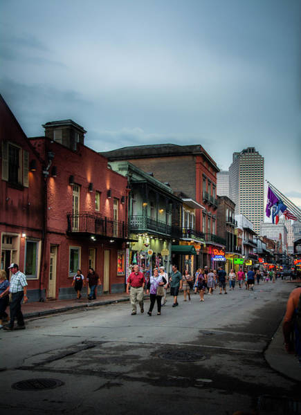 Wall Art - Photograph - Walking On Bourbon Street by Greg and Chrystal Mimbs