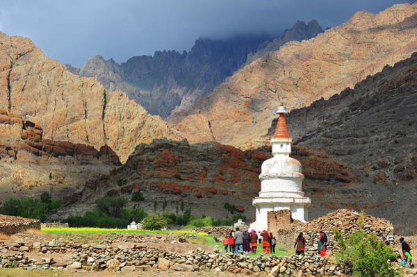 People Walking Photograph - Walking On The Hemis Valley by Photo By Sayid Budhi