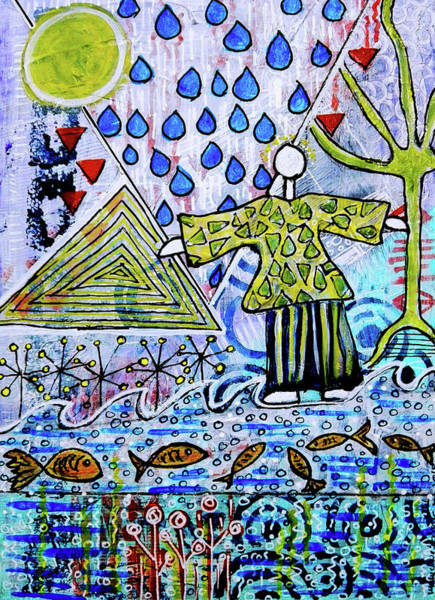 Mixed Media - Walking On Water by Mimulux patricia No