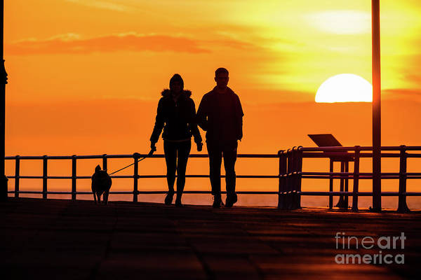 Photograph - Walking The Dog At Sunset by Red Snapper