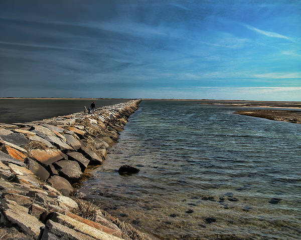 Photograph - Walking The Jetty by Cathy Kovarik