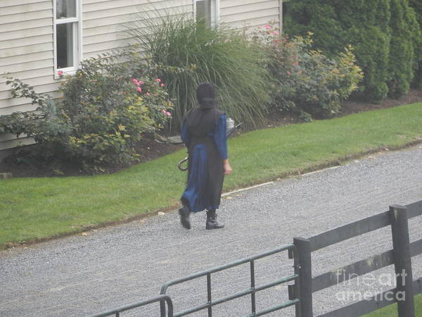 Photograph - Walking To Church by Christine Clark