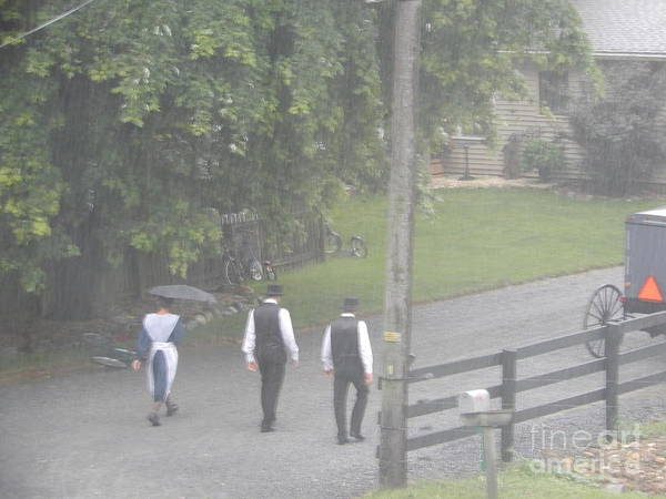 Photograph - Walking To Church Service by Christine Clark