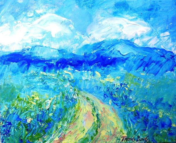 Wall Art - Painting - Walking Towards The Blue by Trudi Doyle