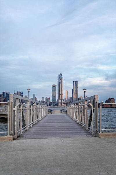 Photograph - Walkway To New York City Skyline by Susan Candelario