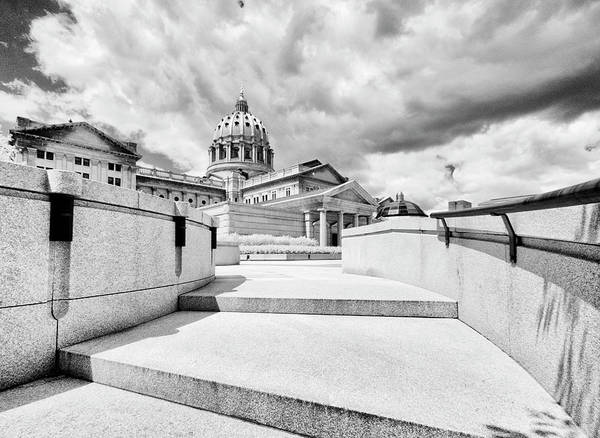 Wall Art - Photograph - Walkway Up To The Pennsylvania Capital Plaza by Paul W Faust - Impressions of Light