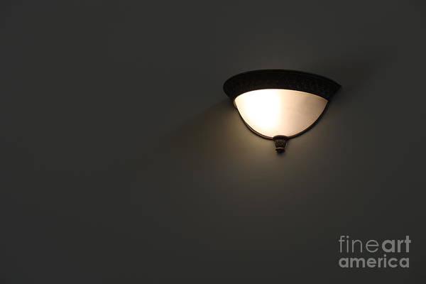 Photograph - Wall Lamp by Ann Horn