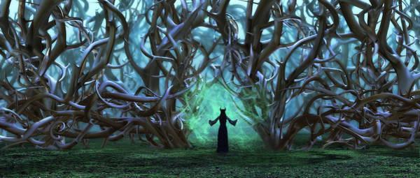 Maleficent Digital Art - Wall Of Thorns by Abilio Fernandez