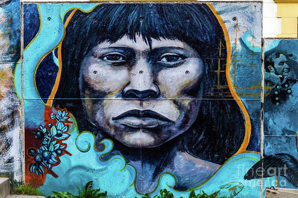 Photograph - Wall Painting In Ushuaia, Argentina by Lyl Dil Creations