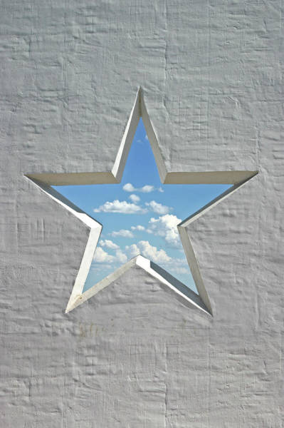 Stucco Wall Art - Photograph - Wall Star 2 by Heathernemec