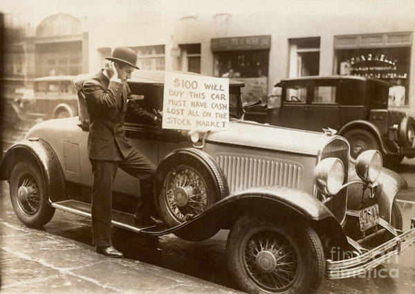 Businessman Photograph - Wall Street Crash, 1929 by Granger