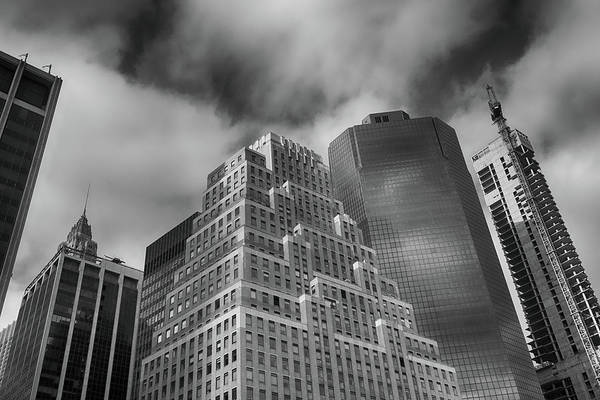 Photograph - Wall Street Skyscrapers  by Cate Franklyn